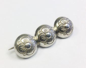 Antique, Danish, Scandinavian, 830 silver brooch.