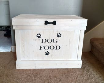 dog food storage container pet food storage rectangle dog food holder dog food