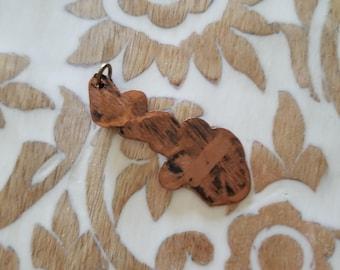 Distressed Copper Pendant