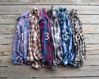 Soft Vintage Oversized Flannels | Choose Your Flannel