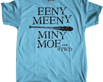 Men's Negan Eeny Meeny Miny Moe The Walking Dead Regular Fit T-Shirt