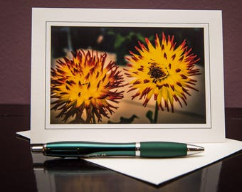 Dahlia No.2-Greeting cards-Note Cards-Flower-Nature-Happy Birthday-Family-Love-Photo Card-Floral-Wedding-Celebration-Congratulation-Gift