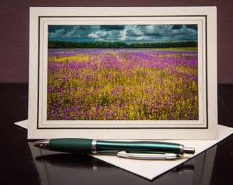 Flower Field GC-Greeting cards-Note Cards-Flower-Nature-Happy Birthday-Family-Love-Photo Card-Floral-Wedding-Celebration-Congratulation-Gift