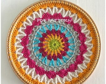 Dream Catcher Crochet Pattern Sun Catcher, Crochet Mandala Pattern Doily pattern - Instant Download PDF Crochet Pattern Tutorial