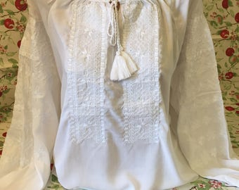 Very delicate embroidered blouse vyshyvanka