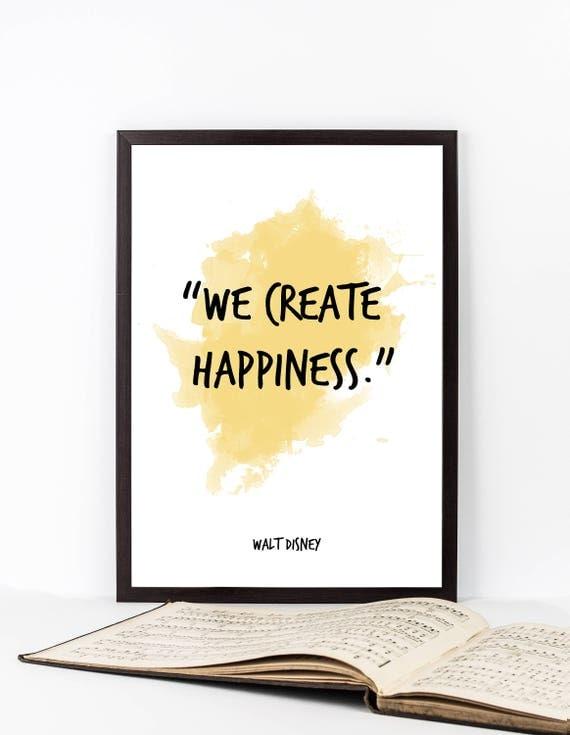 Walt Disney quote Walt Disney Watercolor Poster Walt Disney
