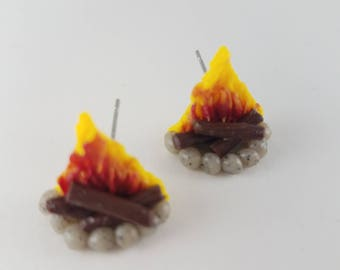 Campfire glow earrings