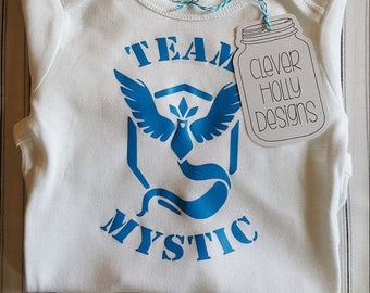 Pokemon Go Baby Onesie Team Mystic (also available Team Instinct, Team Valor) (short or long sleeve baby bodysuit) [Pokemon Baby Gift Idea]