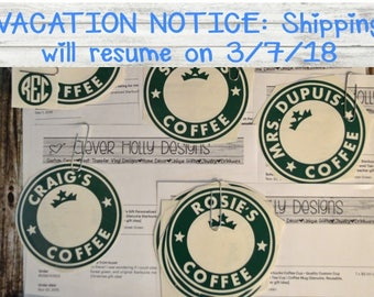 Custom Decals for Starbucks Coffee Cups with Instructions. Decals fit Genuine Starbucks Cups [Quality DIY decals, bridesmaid gifts cheap]