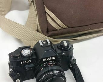 Konica FC-1 camera with bag
