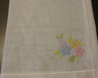 Embroidered Organza Napkins