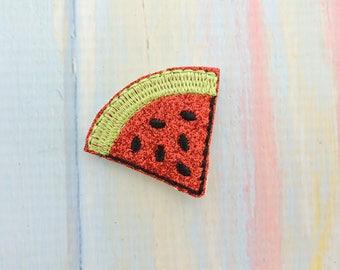 3 Watermelon felties embellishments party favors bows scrap booking hair bows