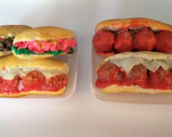 Subway Sandwich fits with American girl & 18 inch Dolls, Doll food, Food for Doll's