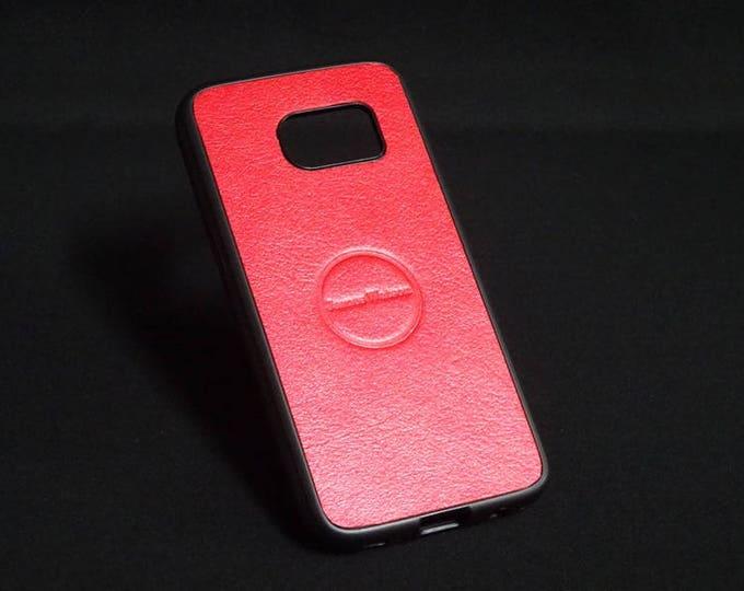 Jimmy Case - Fits Samsung Galaxy S7 - Candy Red - Kangaroo leather - Handmade - James Watson
