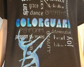 Colorguard Words of Wisdom Tee Shirt