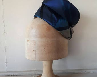 Vintage Tartan Hat Pillbox 1950s