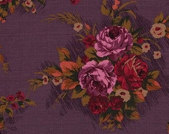 Outback Wife- Elizabeth- Plum- Cotton BARKCLOTH- Gertrude Made