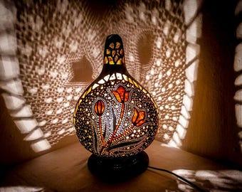 Gourd Lamp turkish gourd lamp | etsy