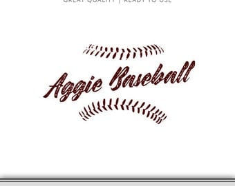Texas A&M Graphic - Aggies - Aggie Baseball Graphic - Aggie SVG - SVG File - EPS File - Cut Files - 7 Formats Ready to Use!