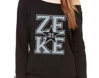 Zeke 21 Feed Zeke Slouchy Off Shoulder Oversized Sweatshirt
