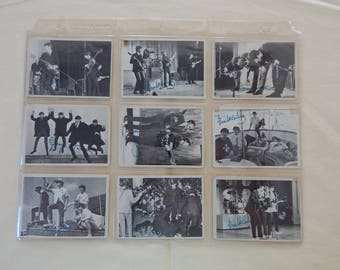 Vintage The Beatles 3rd Series Black and White Used Trading Cards Set of 23 in a Plastic Trading Card Sleeve