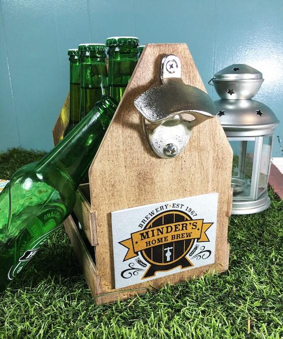 wood beer caddy beer tote personalized beer caddy beer crate
