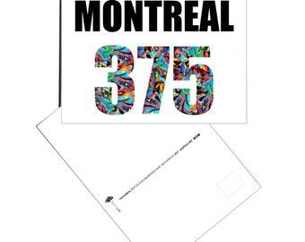 """POSTCARD """"MONTREAL 375"""" card / Postcard """"Montréal Québec"""""""