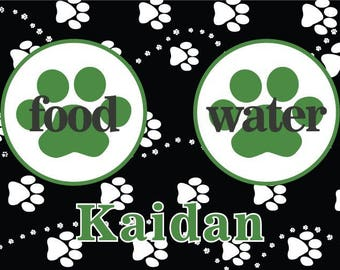 Personalized pet mat No skid mat Dog food mat Cat food mat Pet Placemat Pet mat Personalized dog Mat Pet gifts New dog gift Pet feeding bowl