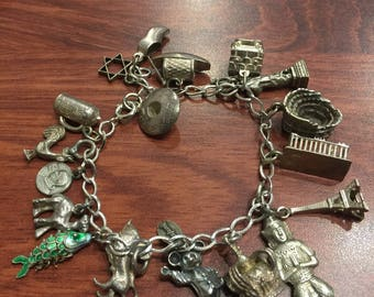 925 Sterling Silver Walt Disney Production Charm Bracelet