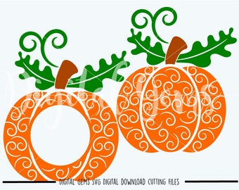 Swirly Pumpkin svg / dxf / eps / png files. The files work well with Silhouette and Cricut. Digital Download. Commercial use ok.