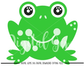 Frog svg / dxf / eps / png files. Digital download. Compatible with Cricut and Silhouette machines. Small commercial use ok