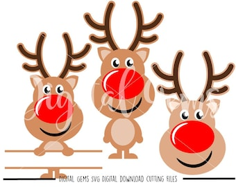 Reindeer svg / dxf / eps / png files. Digital download. Compatible with Cricut and Silhouette machines. Small commercial use ok.