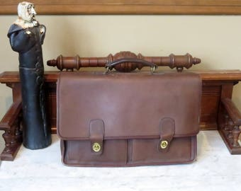 Spring Sale Coach Prescott Briefcase In Mahogany Leather - Style No. 5275- Made in United States- GUC- No Strap