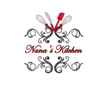 Nanas Kitchen Decor - Nana Embroidery Design - Kitchen Embroidery Design - Baking Embroidery Design - Mothers Day Embroidery Design