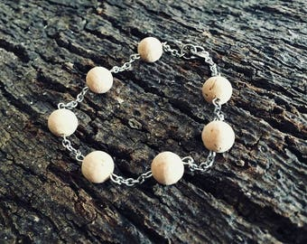 7 ball cork and stainless steel chain bracelet-ball Jewelry Collection