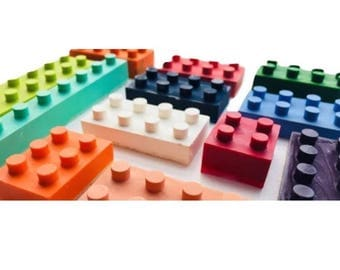 Lego bricks made from 100% non-toxic wax, encourage creativity and imagination, perfect for party bag fillers