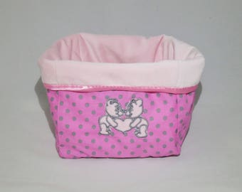Baby storage fabric basket