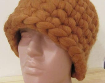 Sale!!! Super chunky сap of 100% wool merino sheep crochet,hat for women,merino hat,allergy-free,natural,bulky,super warm