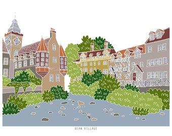 Dean Village Edinburgh Print
