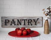 farmhouse sign, pantry sign, farmhouse kitchen, farmhouse wall decor, antique pantry, kitchen wall decor, kitchen decor, handpainted signs