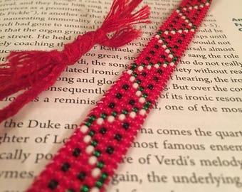 Beaded Red Watermelon Friendship Bracelet