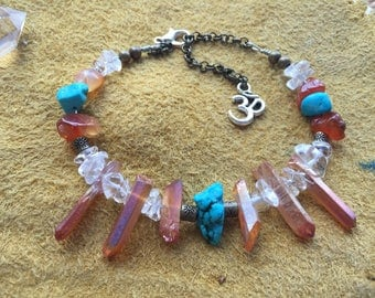Uplifting Stability Crystal Point Choker