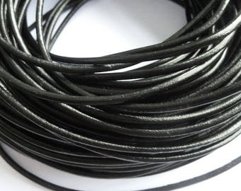 1 m leather cord 3 mm black PR01000