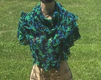 Jewel tone shawlette