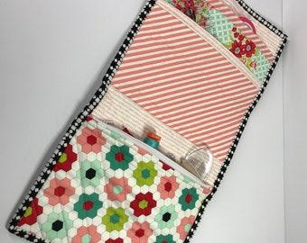 Sewing Clutch Wallet - W/Zipper Pocket
