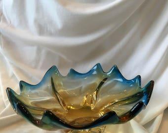 MURANO Mid Century Modern Art Glass Bowl