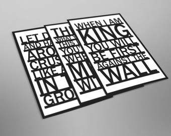 Radiohead Inspired. Lyrics. OK Computer. Paranoid Android. Karma Police. No Surprises. Electioneering. Let Down. Music Poster. Wall Art.