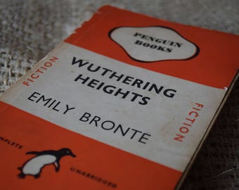 Wuthering Heights. Emily Bronte. A Vintage Penguin Book. 524. 1946. Orange Fiction Copy. Penguin First Edition