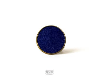 Ring 20 mm leather blue ° °