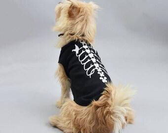 Skeleton Pet Vest - Halloween Pet Vest - Dog Vest - Glow in The Dark - Pet Halloween Costume - Halloween Dog - Halloween Pet